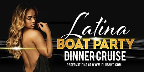 #1 LATIN DINNER CRUISE BOAT PARTY  |  SENSATION YACHT NYC tickets