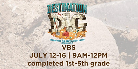 Vacation Bible School (completed 1st-5th grade) tickets