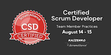 Online Certified Scrum Developer(CSD) - Team Member Practices tickets