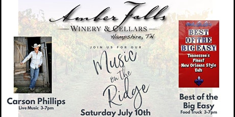 Music on the Ridge featuring Carson Phillips tickets