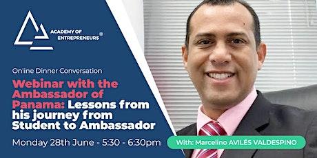 Online Webinar with Ambassador Marcelino Aviles: Ask Him Anything biglietti