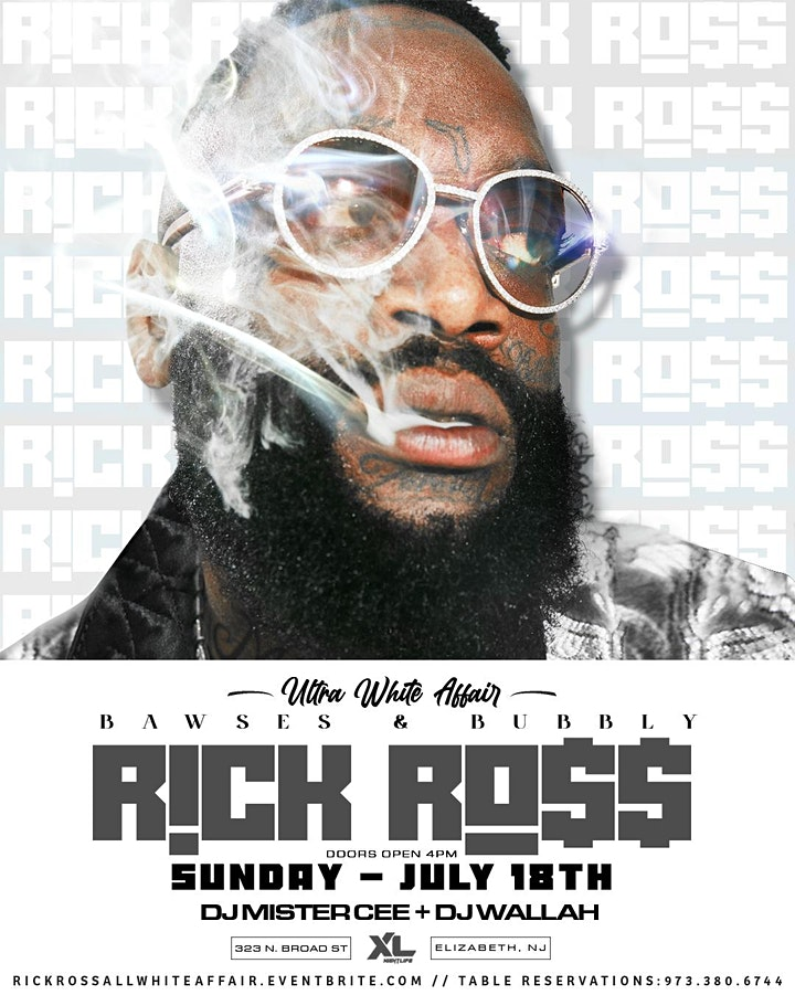 BAWSES & BUBBLY (ULTRA WHITE AFFAIR) RICK ROSS image