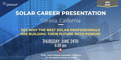 Corona Solar Career Presentation tickets