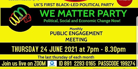 Public engagement meeting, Change for 2022 tickets