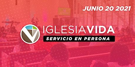 Servicio En Persona - Junio 20 2021 tickets