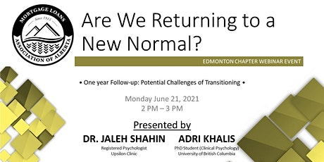 *MLAA* Webinar Series- Are We Returing to a New Normal? tickets