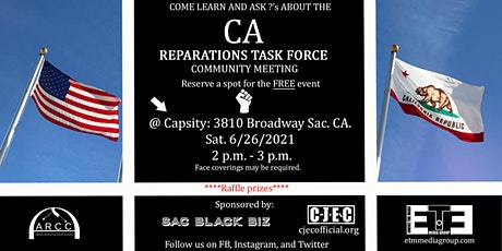 CA Reparations  Information Task Force Community Meeting tickets