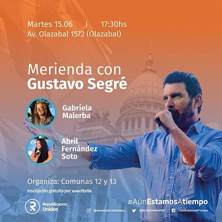 Imagen de Merienda con Gustavo Segré. Comuna 12 y 13