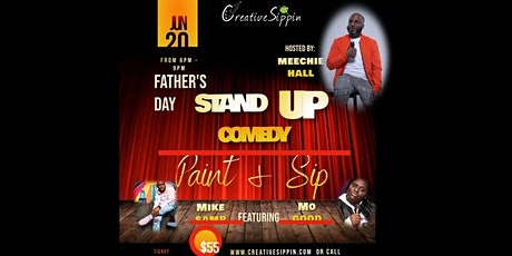 Father's Day Stand Up Comedy Paint & Sip tickets
