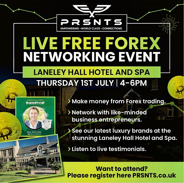 Forex Investing Training and Networking Event at Langley Hall Hotel & Spa image