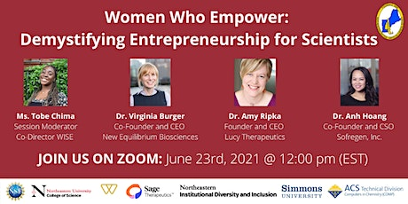 Women who Empower: Demystifying Entrepreneurship for Scientists tickets