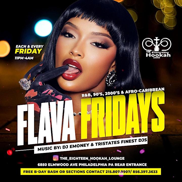 Flava Fridays @ The Eighteen Hookah Lounge image