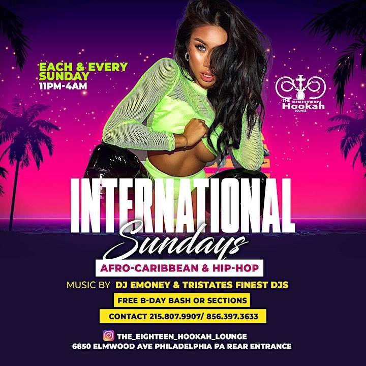 International Sundays @ The Eighteen Hookah Lounge image