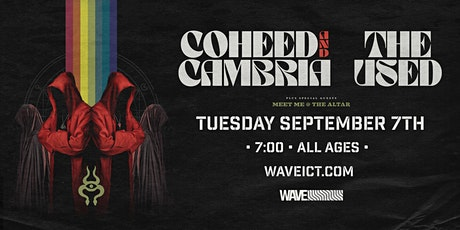 Coheed & Cambria + The Used at Wave tickets