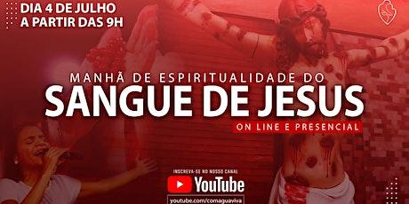 Manhã de espiritualidade do Sangue de Jesus - PRESENCIAL ingressos