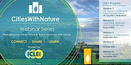 CitiesWithNature Webinar 1 tickets