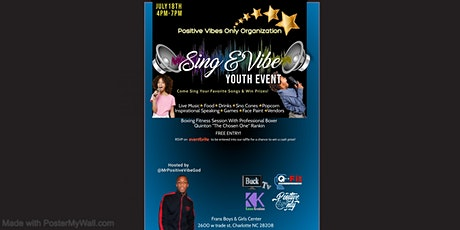 Sing & Vibe Youth Community Event tickets