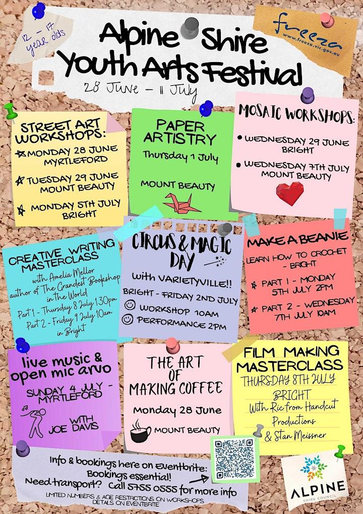 Alpine Shire Youth Arts Festival 2021 image