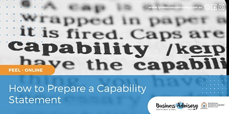 How to Prepare a Capability Statement tickets