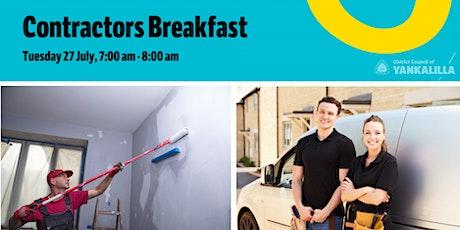Contractors Breakfast tickets
