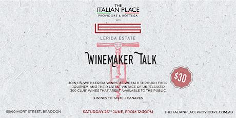Winemaker Talk with Lerida Estate at The Italian Place Providore & Bottega tickets