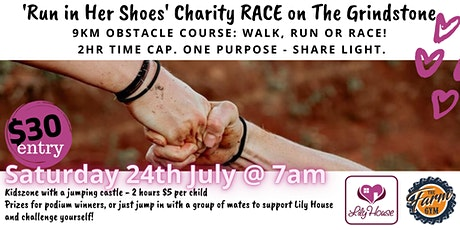 """""""Run in her shoes"""" Charity Race on The Grindstone tickets"""