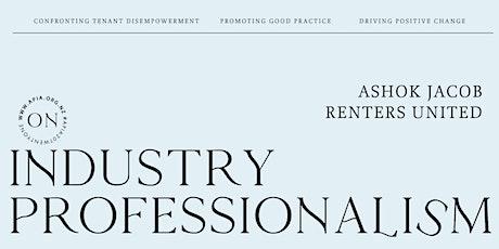 Ashok Jacob: On industry professionalism tickets