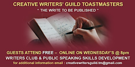The Creative Writers Guild Toastmasters tickets