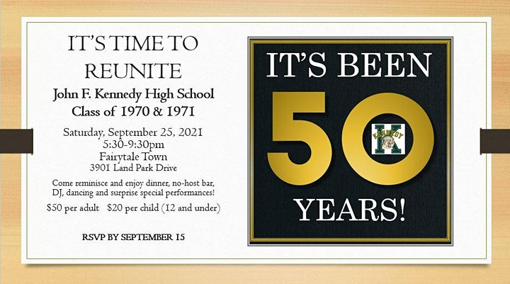 John F. Kennedy High School 50th Reunion  - Class of 1971 and 1970 image
