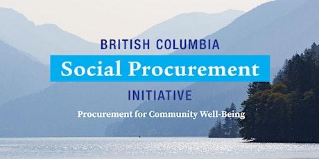 SP 201 - Implementation of Social Procurement tickets