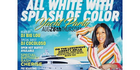 Sexy All White Splash of Color Yacht Party tickets