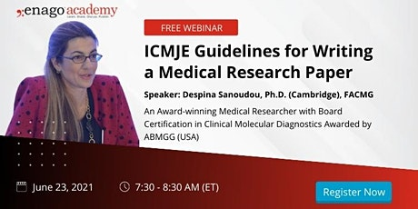 ICMJE Guidelines for Writing a Medical Research Paper tickets