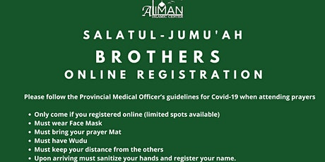 Friday, June 18th Brothers  Jumu'ah Registration tickets