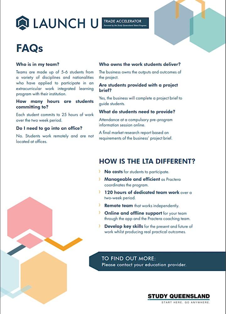Launch U Trade Accelerator Program (LTA) Information Session image