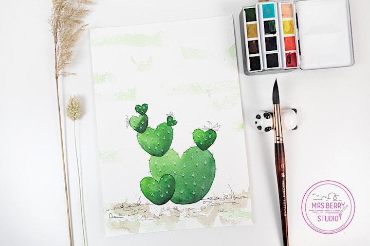 Ferienkurs Watercolor für Kinder und Jugendliche in den Sommerferien KW28: Bild
