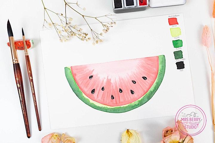 Ferienkurs Watercolor für Kinder und Jugendliche in den Sommerferien KW29: Bild