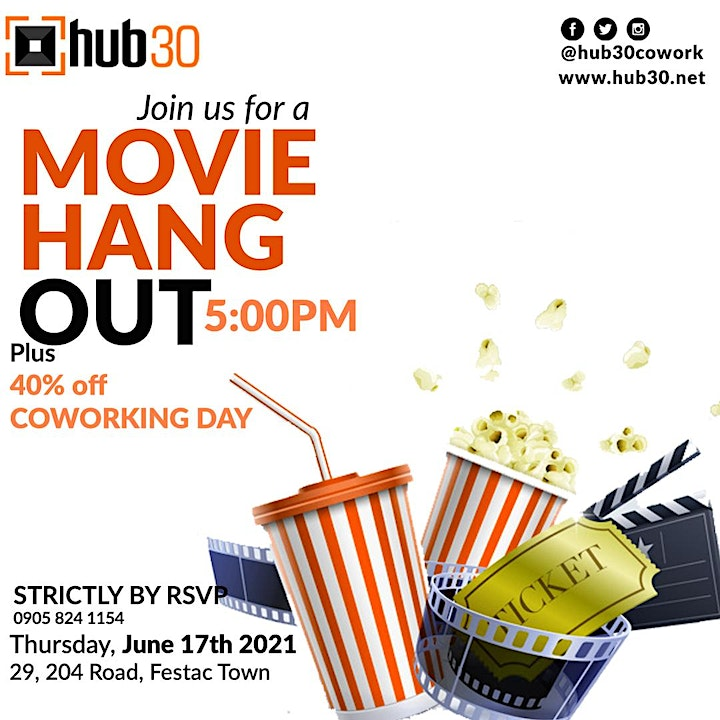 Movie Hangout & Coworking Day image