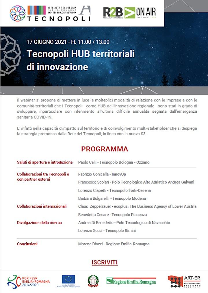 Immagine Tecnopoli HUB territoriali di innovazione