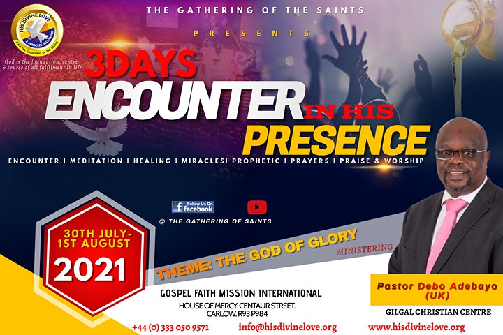 3 DAYS ENCOUNTER IN HIS PRESENCE image