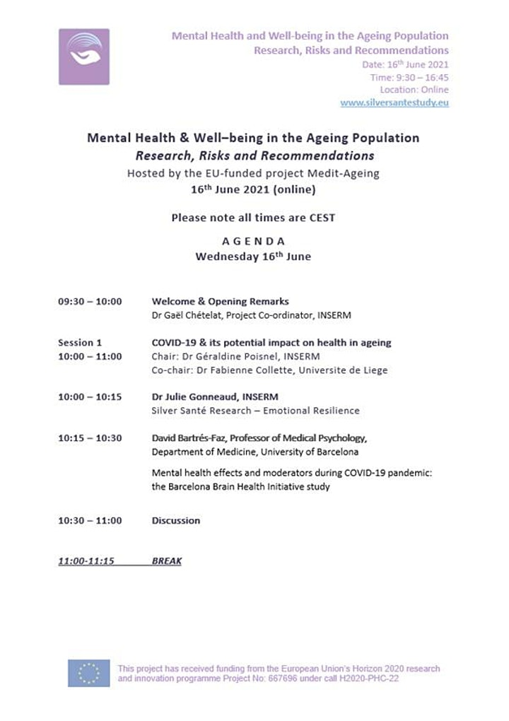 Mental Health & Well-being in the Ageing Population image