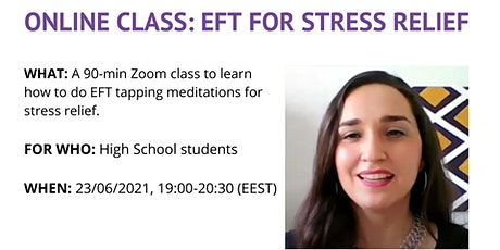 Stress Relief for High School Students [Zoom class] tickets