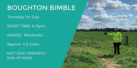 **NEW** BOUGHTON BIMBLE | 4 MILES | MODERATE | NORTHANTS tickets