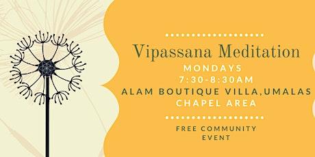 Vipassana Meditation tickets