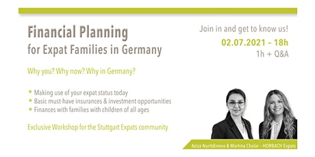 Financial Planning for Expat Families in Germany tickets