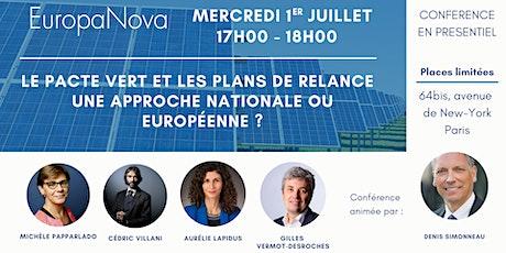 Conférence pacte vert et plans de relance tickets