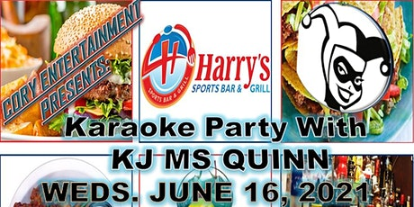 KJ MS QUINN's Karaoke Party at Harry's Sports Bar & Grill (Every Wednesday) tickets