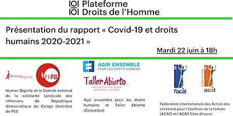 [Covid-19 et droits humains] Présentation du rapport de la Plateforme DH billets