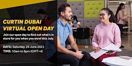 Curtin Dubai Virtual Open Day-26June 2021 biglietti