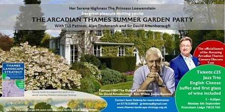 The Arcadian Thames Summer Garden Party with Sir David Attenborough tickets
