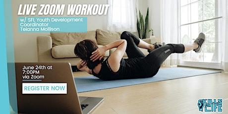 Workout w/ Teianna tickets
